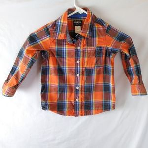 Oshkosh b'gosh long sleeve button plaid top 4